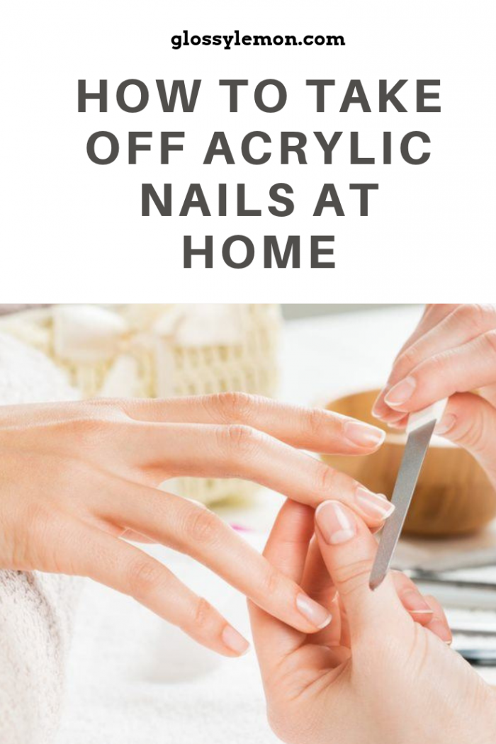 The easy way to remove acrylic nails at home!